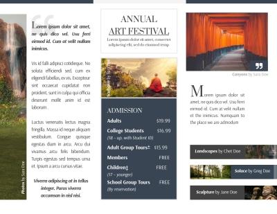 Art Festival Tri-Fold Brochure Template Preview 2