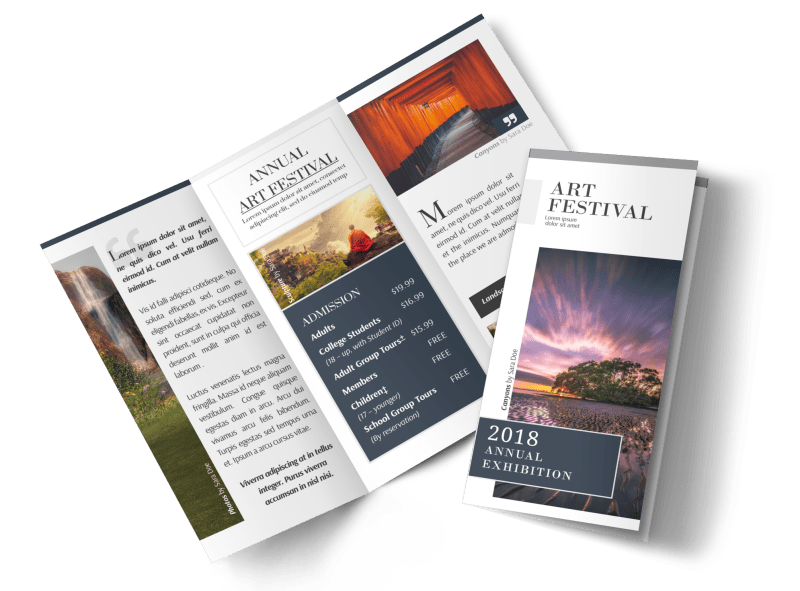 Art Festival Tri-Fold Brochure Template Preview 1