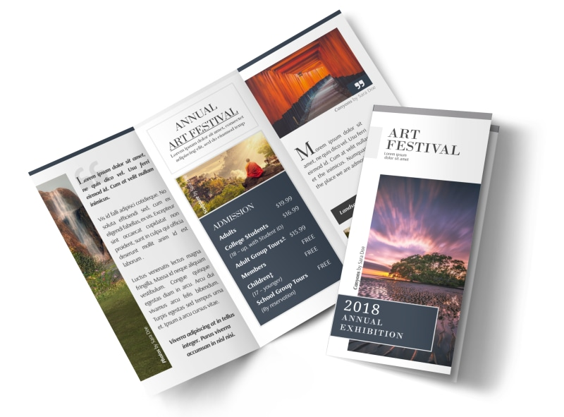 art festival tri fold brochure template mycreativeshop