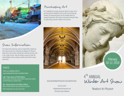 Winter Art Show Tri-Fold Brochure Template Preview 1