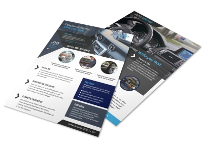 Exceptional Auto Detailing Flyer Template preview