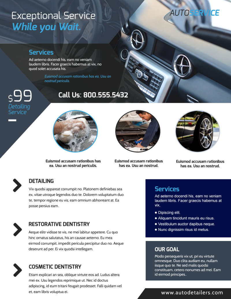 Exceptional Auto Detailing Flyer Template Preview 2