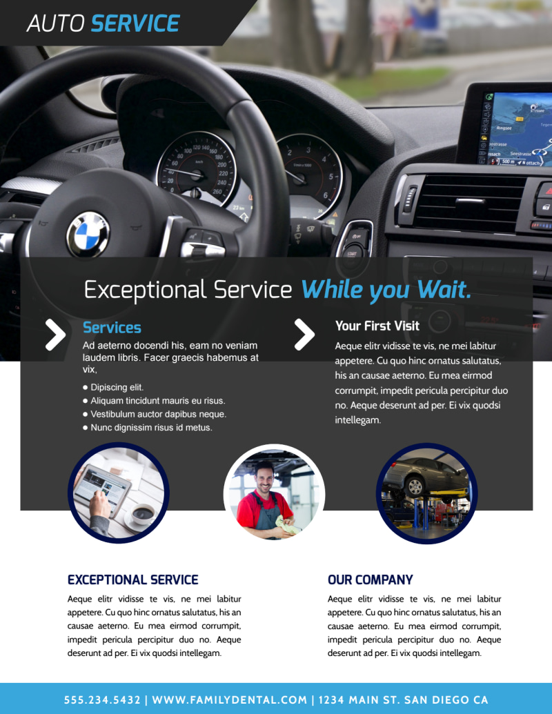 Exceptional Auto Detailing Flyer Template Preview 3