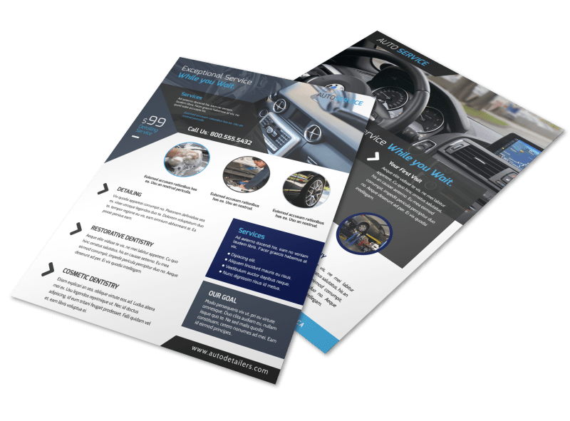 Exceptional Auto Detailing Flyer Template Preview 1