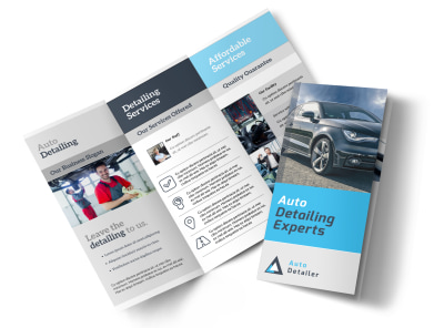 Auto Detailing Experts Tri-Fold Brochure Template preview
