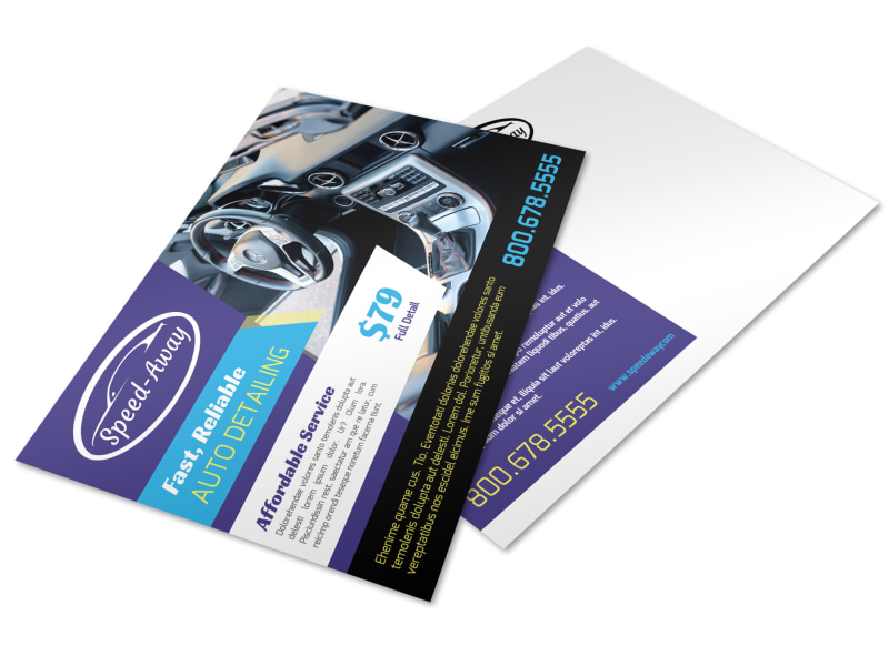 Awesome Auto Detailing Postcard Template