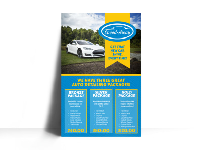 Auto Detailing Packages Poster Template preview