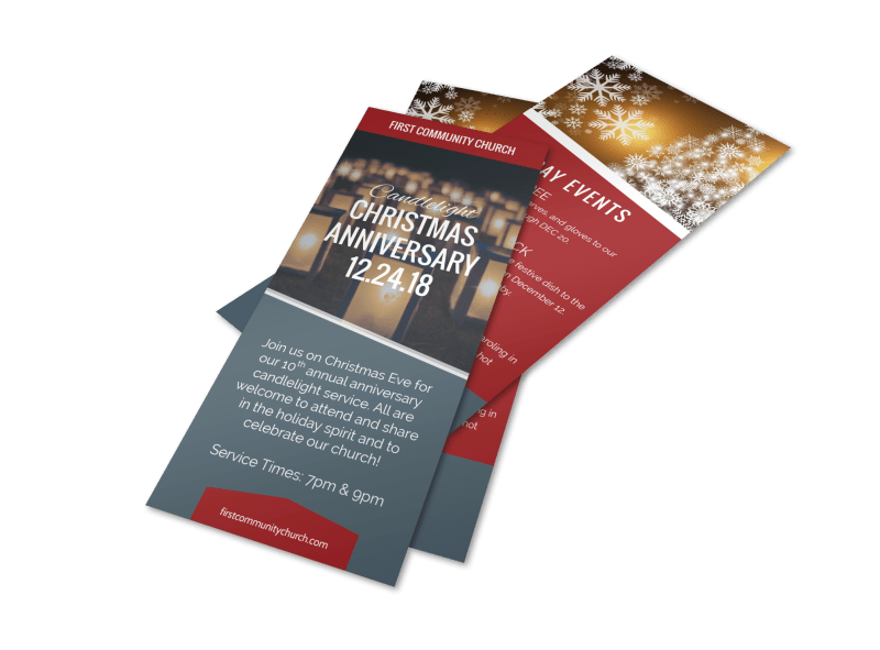 Church Christmas Anniversary Flyer Template Preview 1