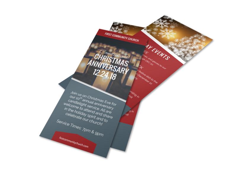 Church Christmas Anniversary Flyer Template