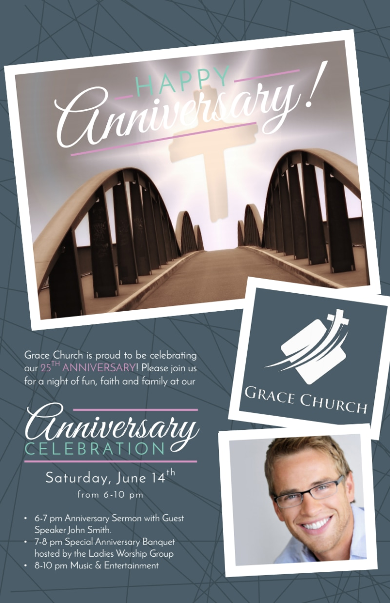 Awesome Church Anniversary Flyer Template Preview 2