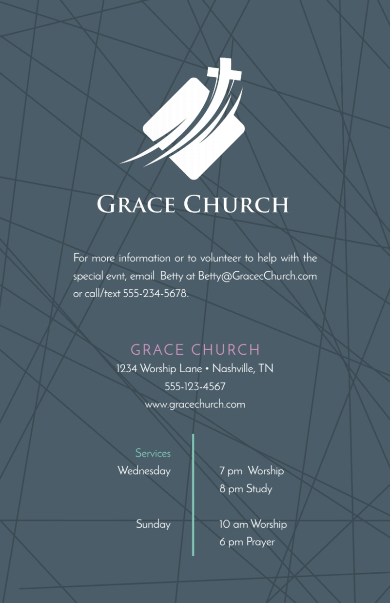Awesome Church Anniversary Flyer Template Preview 3