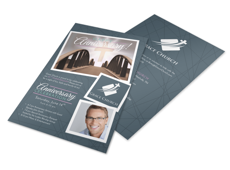 Awesome Church Anniversary Flyer Template Preview 1