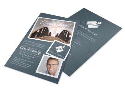 Awesome Church Anniversary Flyer Template preview