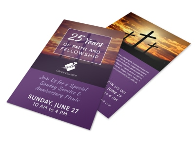 Faith & Fellowship Church Anniversary Flyer Template