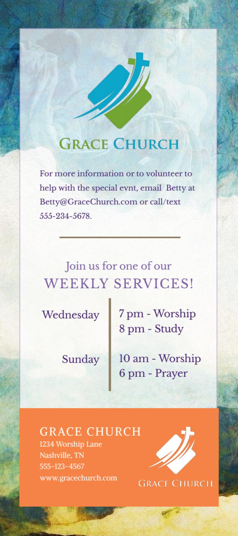 Fun Church Anniversary Flyer Template Preview 3