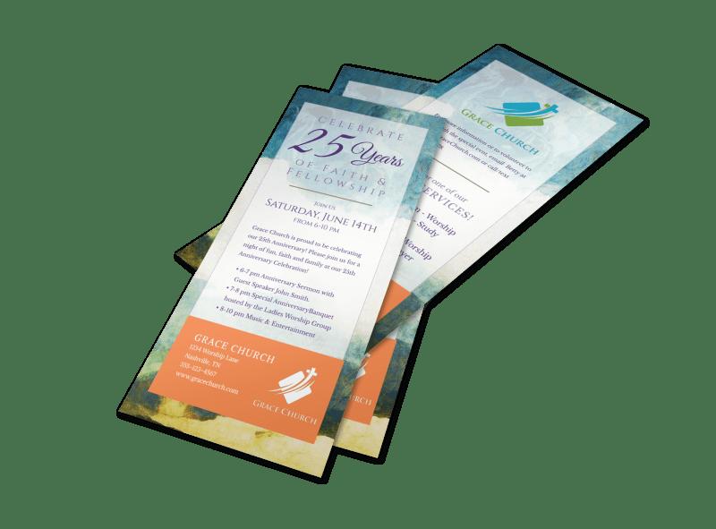 Fun Church Anniversary Flyer Template Preview 1