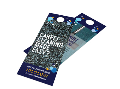 Fun Carpet Cleaning Door Hanger Template preview