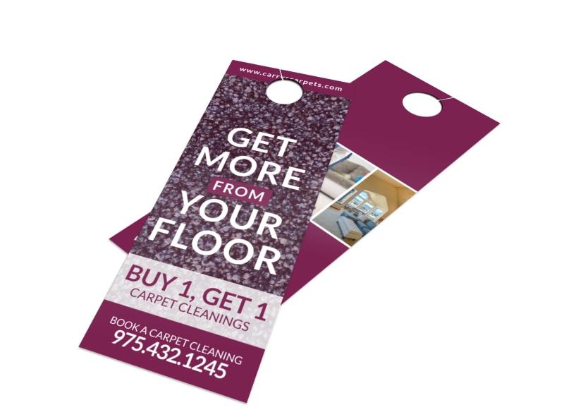Cleaning Carpet Door Hanger Template