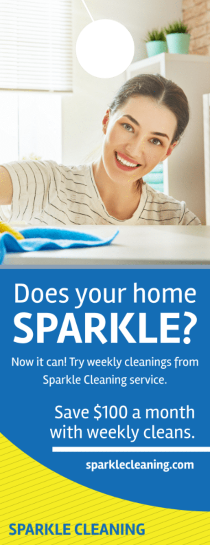 Sparkle Cleaning Service Door Hanger Template Preview 2