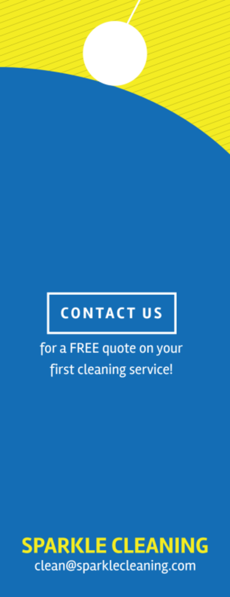 Sparkle Cleaning Service Door Hanger Template Preview 3