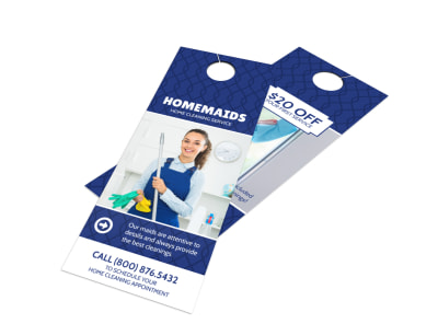 Homemaids Cleaning Service Door Hanger Template preview
