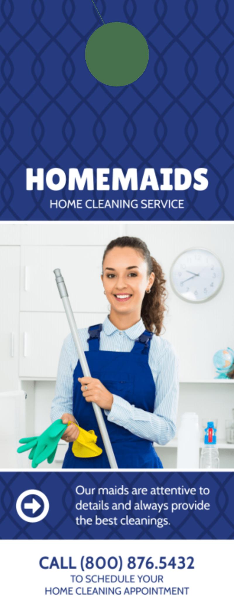 Homemaids Cleaning Service Door Hanger Template Preview 2