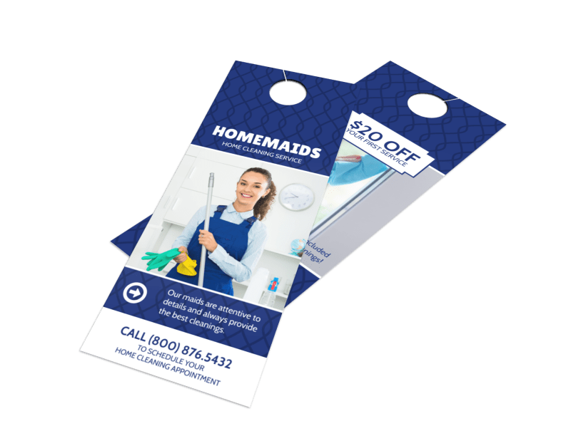 Homemaids Cleaning Service Door Hanger Template Preview 1