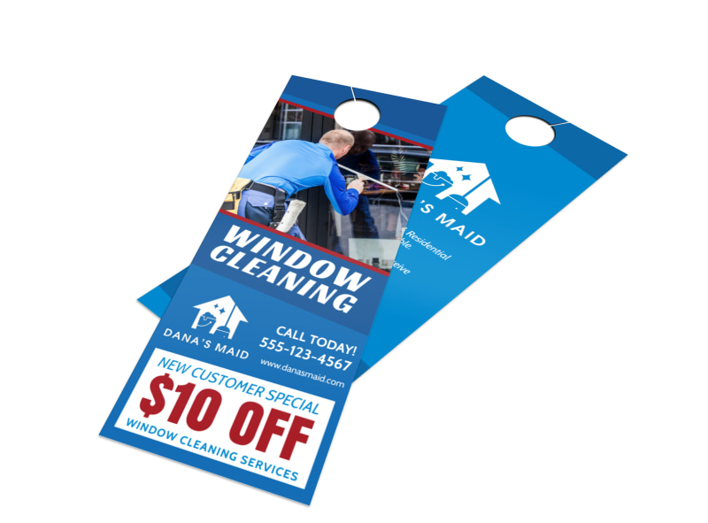Special Window Cleaning Door Hanger Template