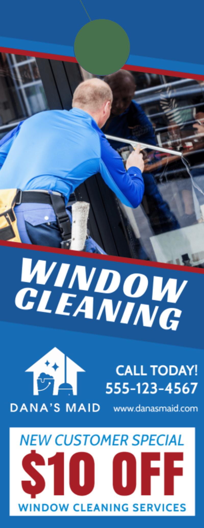 Special Window Cleaning Door Hanger Template Preview 2