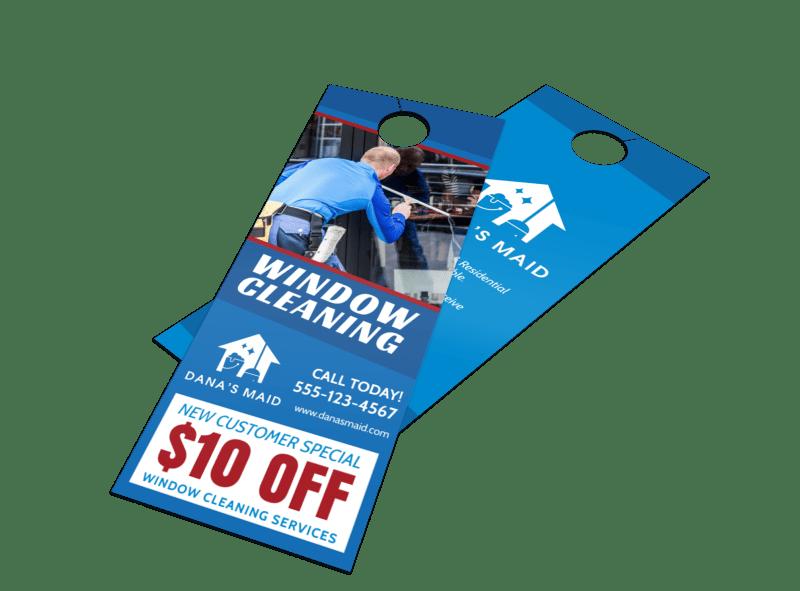 Special Window Cleaning Door Hanger Template Preview 1