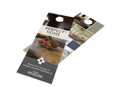 Modern Window Cleaning Door Hanger Template preview