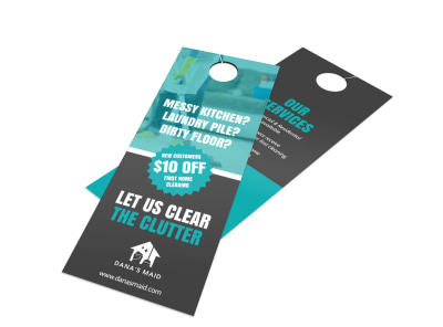 House Cleaners Door Hanger Template preview