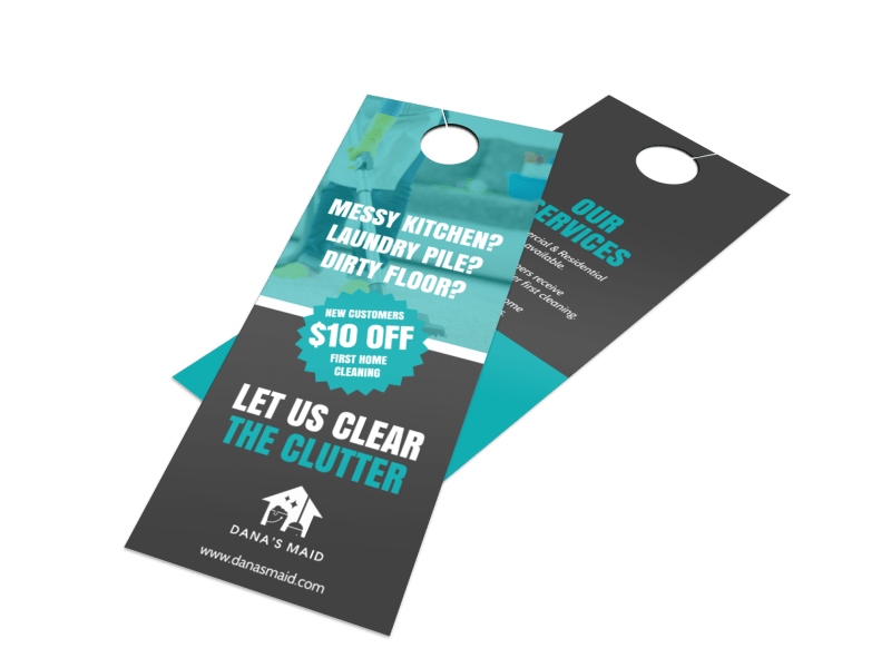 House Cleaners Door Hanger Template Preview 1