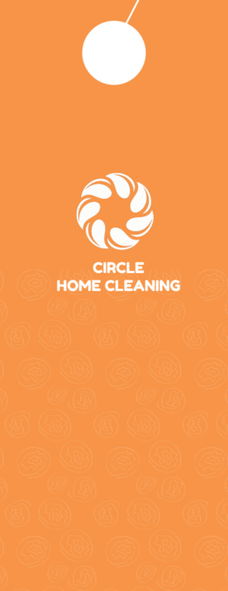 Super House Cleaning Door Hanger Template Preview 3