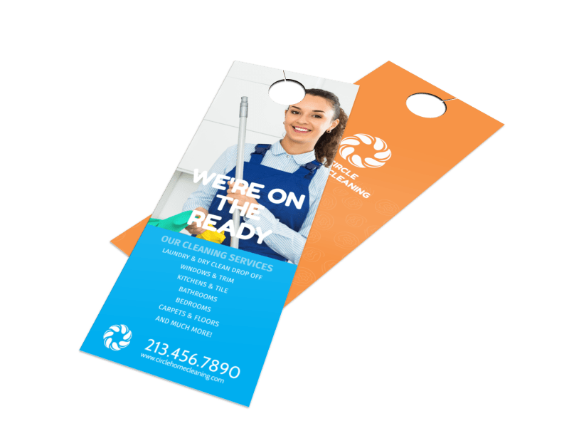 Super House Cleaning Door Hanger Template Preview 1