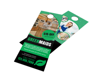 Cleaning Maids Door Hanger Template preview