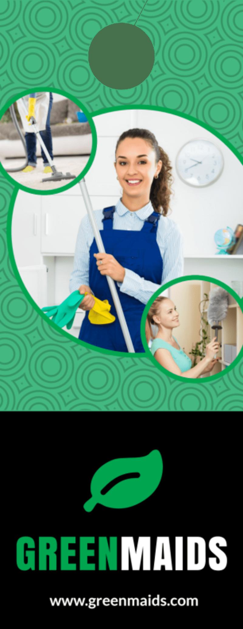 Cleaning Maids Door Hanger Template Preview 3
