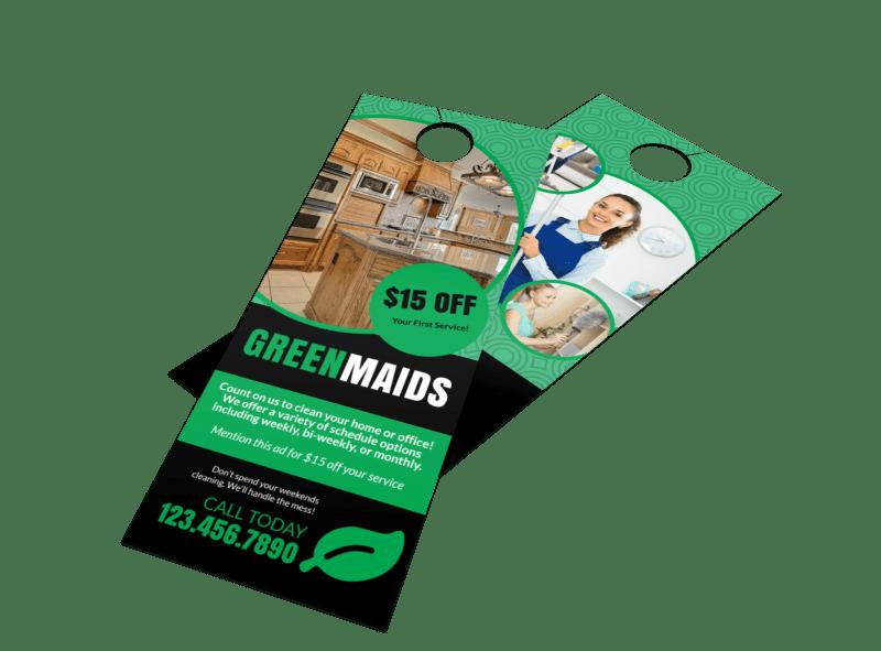 Cleaning Maids Door Hanger Template Preview 1