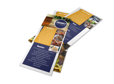 Ale House Bar Menu Template preview