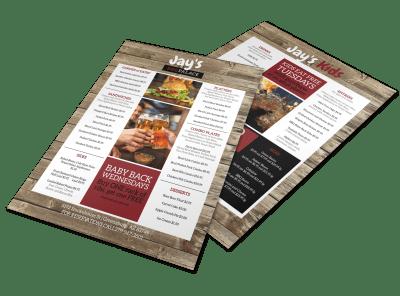 Menu Templates   Restaurants, Salons & More Template Preview