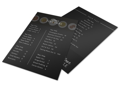 Generic Menu Template 17008