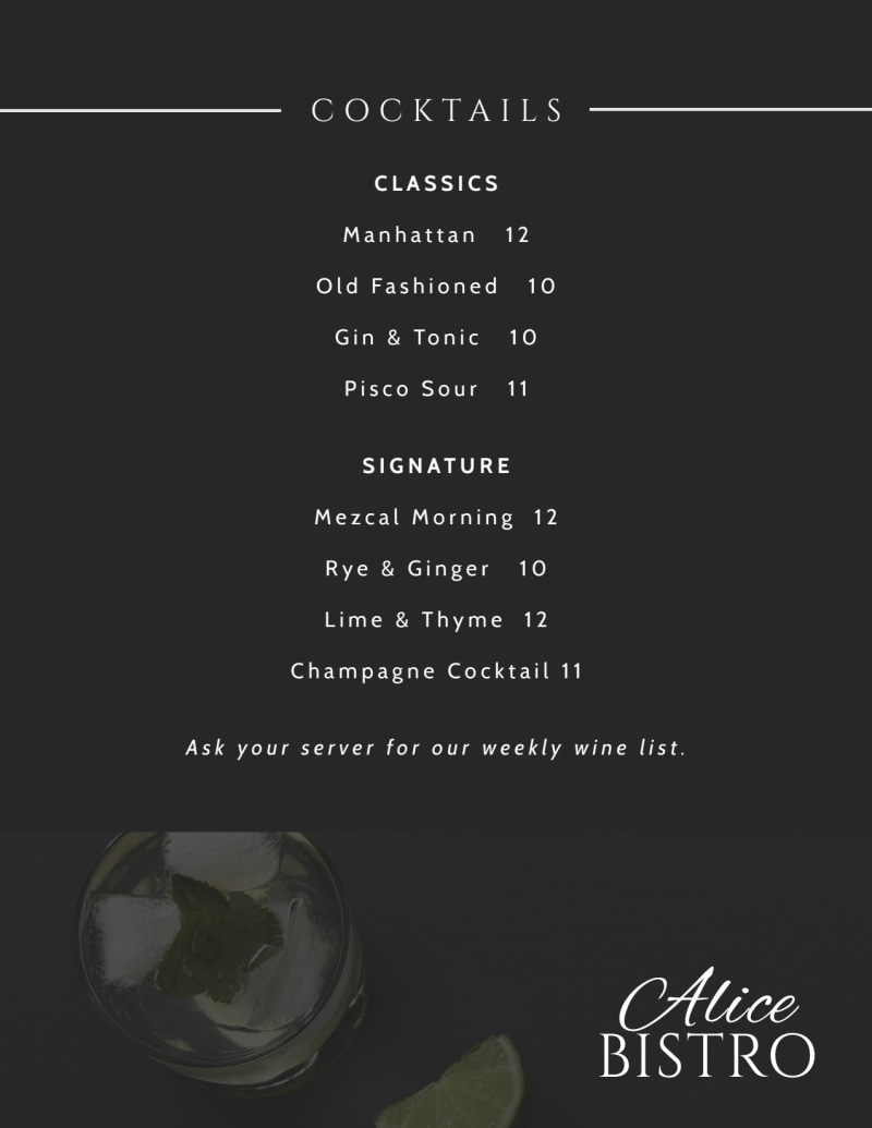 Cafe Bistro Menu Template Preview 3
