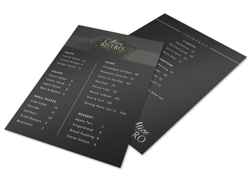 Cafe Bistro Menu Template Preview 1