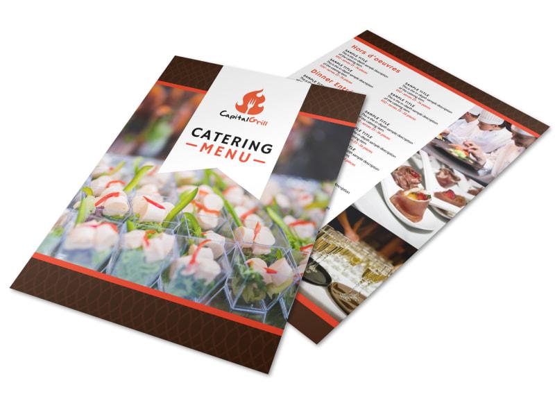 Capital Catering Menu Template