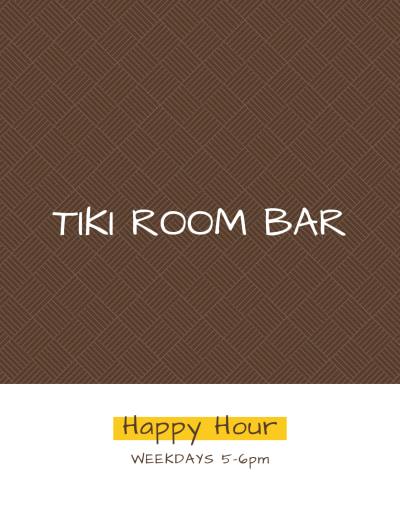 Tiki Room Cocktail Menu Template Preview 2