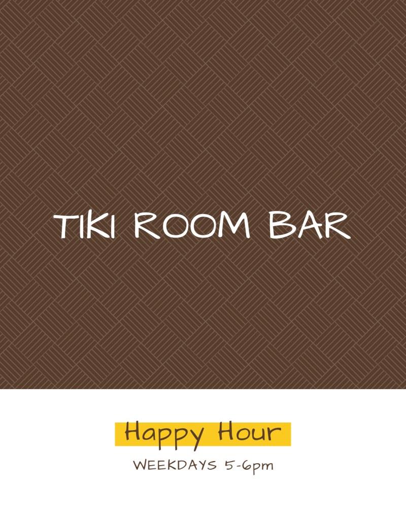 Tiki Room Cocktail Menu Template Preview 3