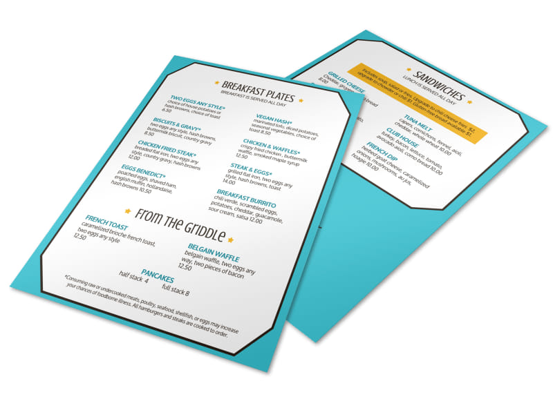 Classic Diner Menu Template Preview 4