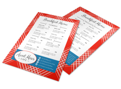 Classic Breakfast Diner Menu Template preview