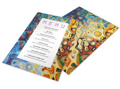 Stylish Dinner Party Menu Template preview