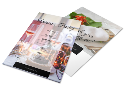 Party Menu Templates Template Preview